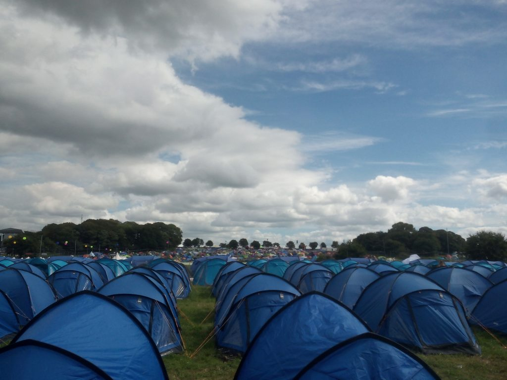 Creamfields, glamping Dreamfields.