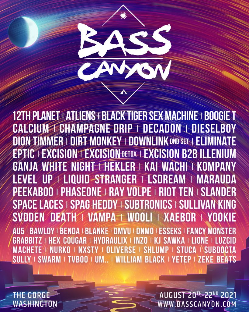 Bass Canyon, Excision, The Gorge Amphitheatre
